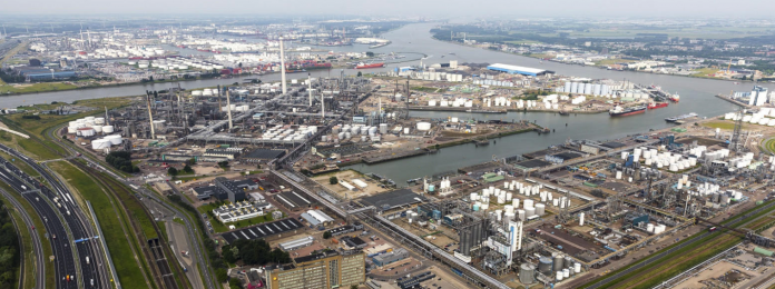 Schermafbeelding haven Rotterdam