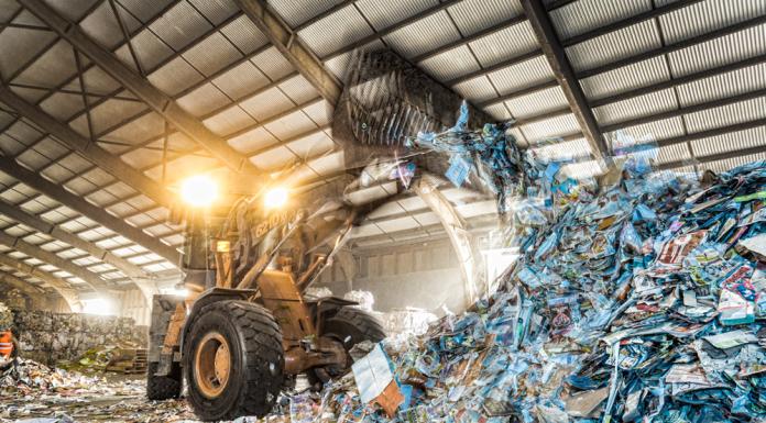 Papier shovel foto recycling