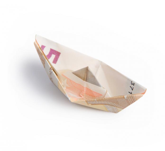 Geld brief gevouwen