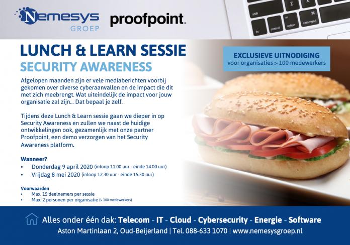 Nemesys lunch en Learn sessie